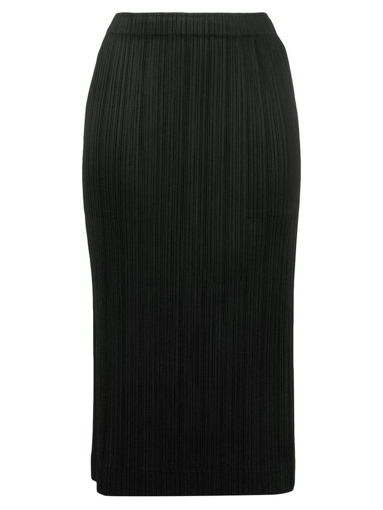 Pleats Please By Issey Miyake micro pleated pencil skirt - Black