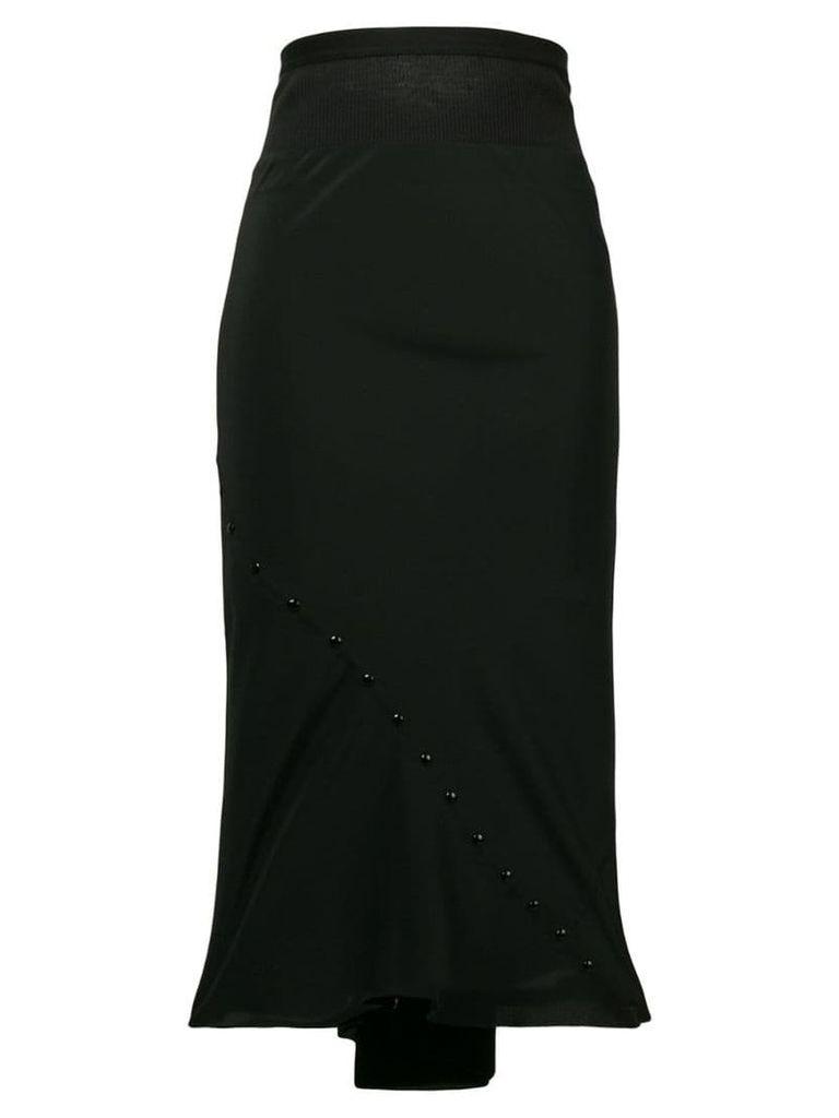 Rick Owens high rise pencil skirt - Black