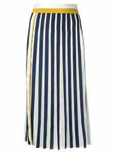 Victoria Victoria Beckham coloublock pleated midi skirt - White