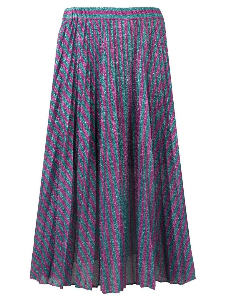 Philosophy Di Lorenzo Serafini striped pleated skirt - Purple