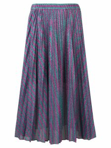Philosophy Di Lorenzo Serafini striped pleated skirt - Purple