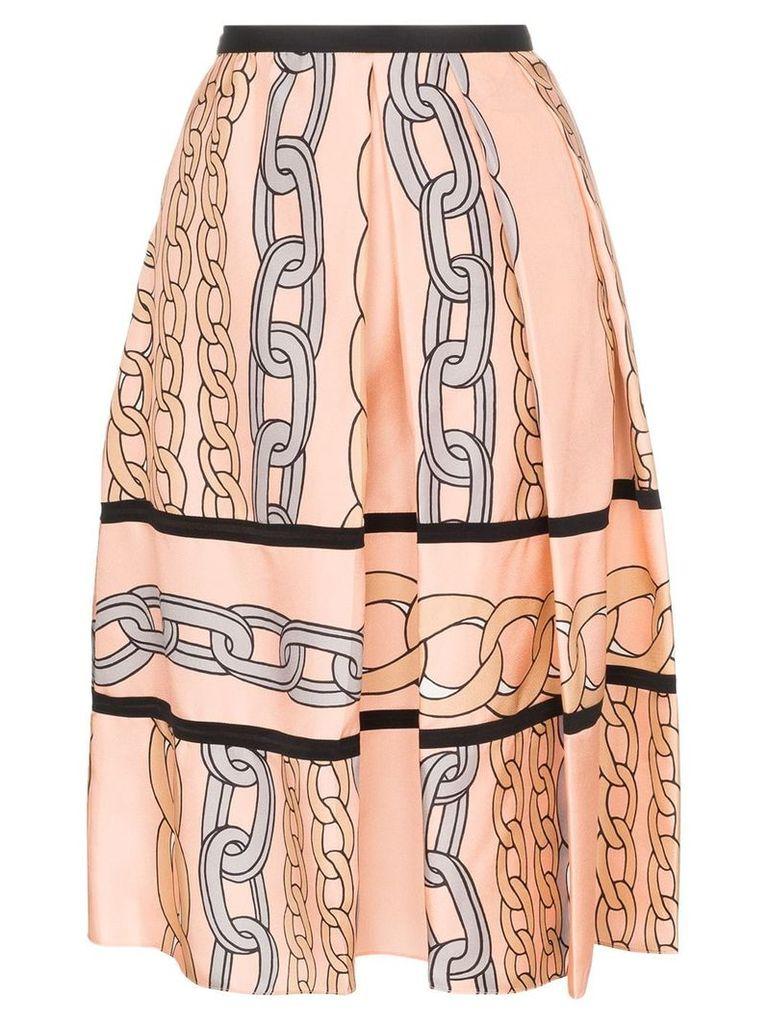 Marni chain print midi skirt - Pink