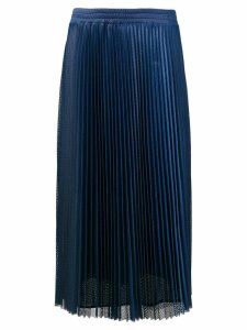 Red Valentino pleated midi skirt - Blue