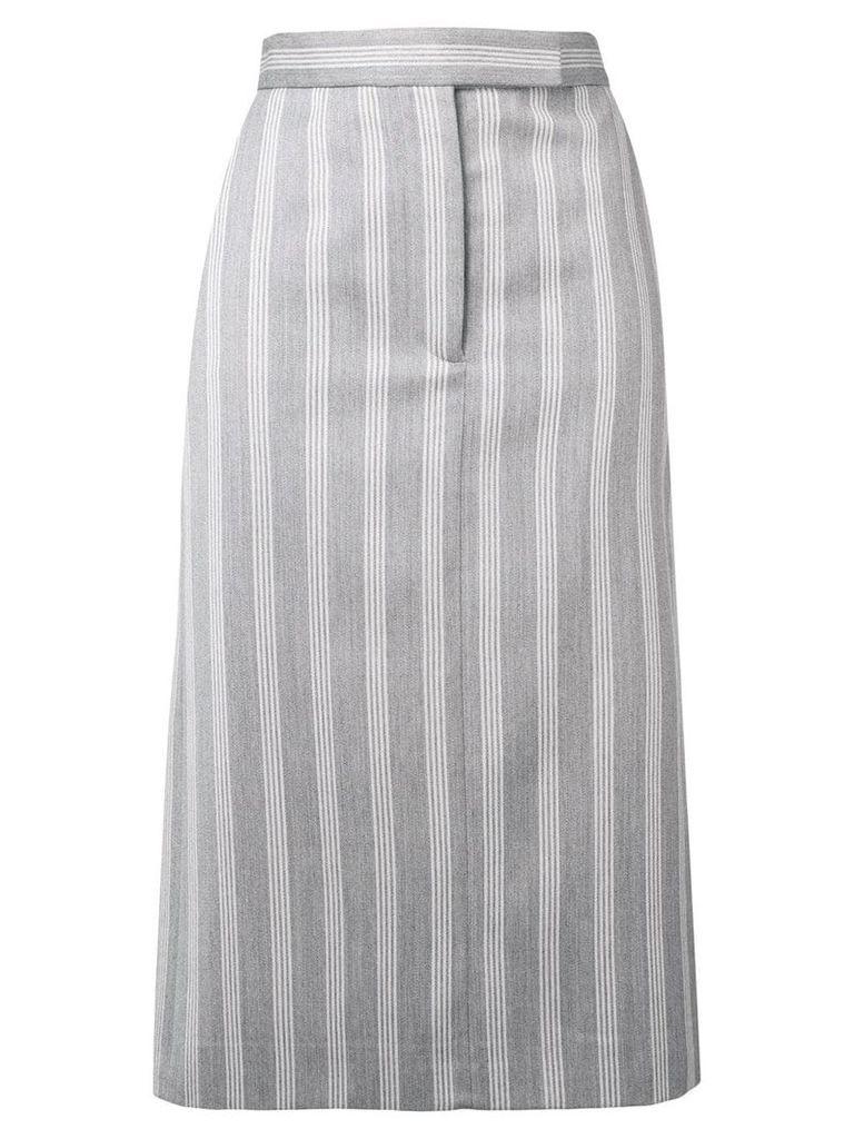 Thom Browne 4-Bar Repp Stripe Sack Skirt - Grey
