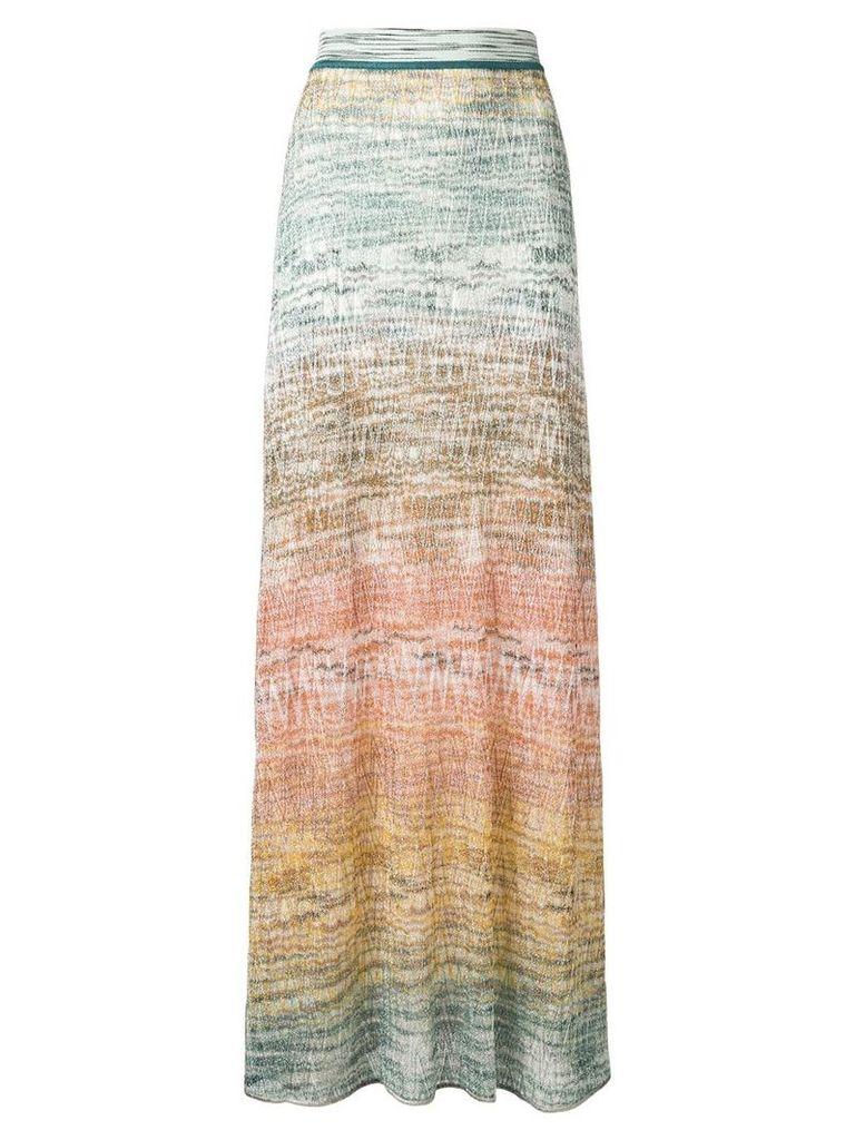 Missoni zig-zag knit maxi skirt - Green