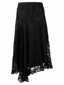 Kenzo asymmetric lace skirt - Black