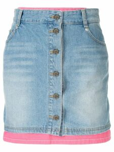SJYP layered denim skirt - Blue