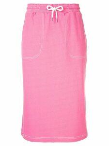SJYP drawstring waist jersey skirt - Pink