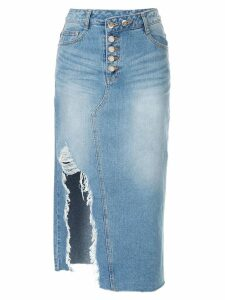 SJYP destroyed denim skirt - Blue