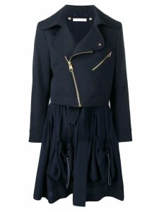 Chloé zipped parka coat - Blue
