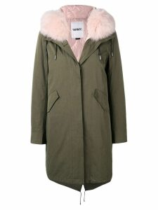 Yves Salomon Army fur collar parka - Pink