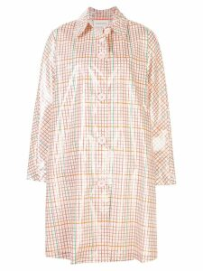 Mansur Gavriel check raincoat - Pink