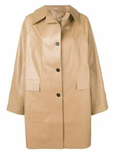 Kassl Editions oversized trench coat - Black