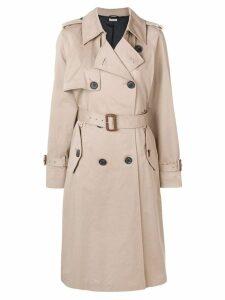 Miu Miu double breasted trench coat - Neutrals