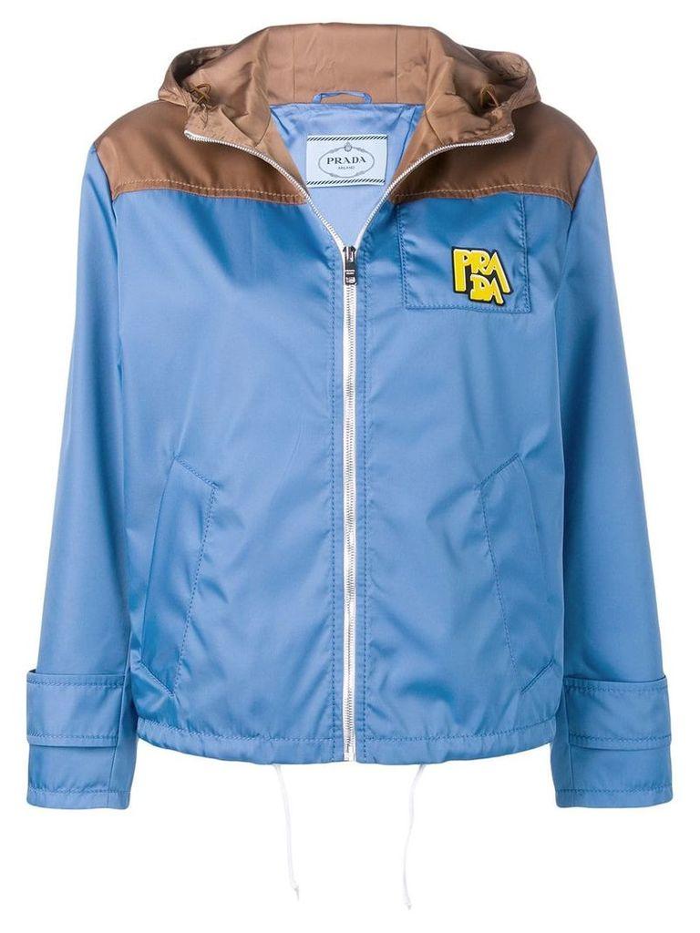 Prada cropped raincoat - Blue