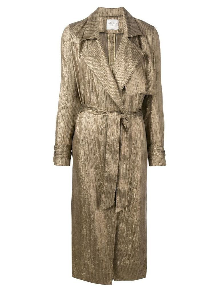 Forte Forte ribbed shimmer trench coat - Gold