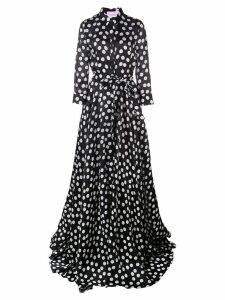 Carolina Herrera polka dot print dress - Black