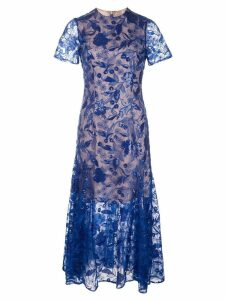 Costarellos sequin embroidered lace dress - Blue