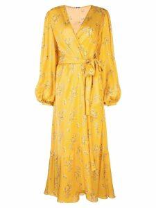 Johanna Ortiz wrap-around long dress - Yellow