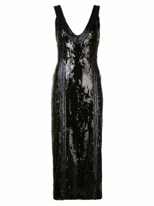 Galvan sequinned cocktail dress - Black