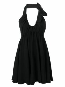 Nº21 ruched-neck mini dress - Black