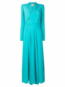 Erika Cavallini long flared evening dress - Blue