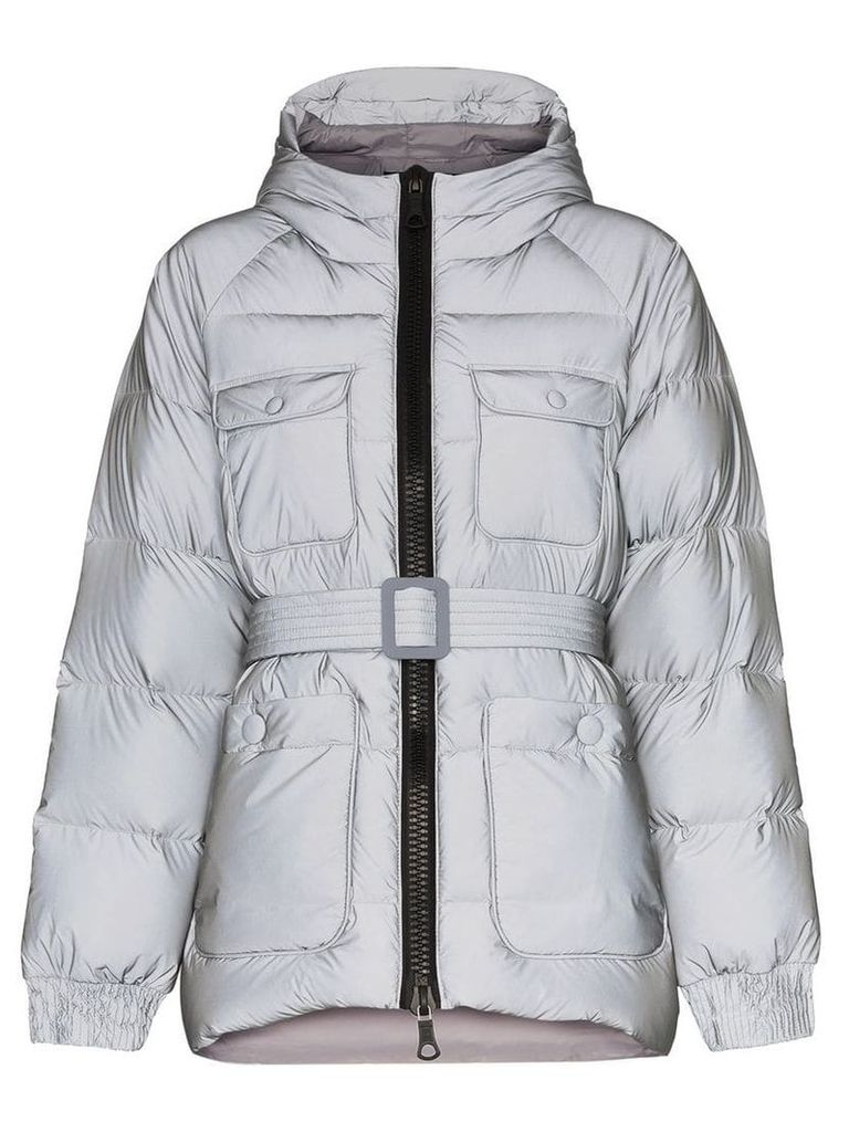 Ienki Ienki Berlin reflective hooded padded jacket - Grey