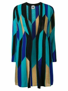 M Missoni contrast panels cardi-coat - Blue