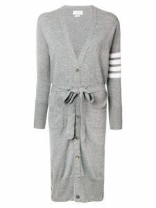 Thom Browne Long Boxy Cashmere Cardigan - Grey