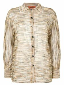Missoni woven knitted cardigan - Neutrals