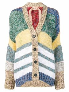 Nº21 striped button cardigan - Green