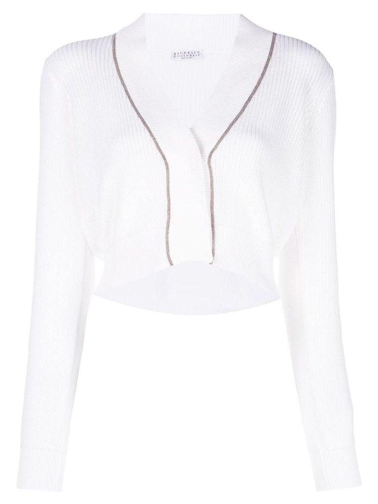 Brunello Cucinelli V-neck pullover - White