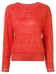 Bellerose long-sleeve fitted sweater - Orange