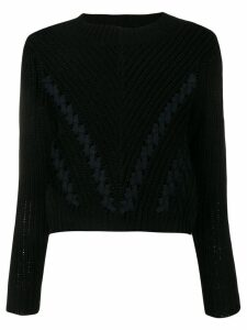 3.1 Phillip Lim chevron cropped jumper - Black