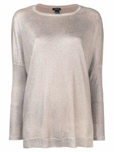 Avant Toi oversized boat neck sweater - Neutrals