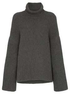Nanushka Raw ribbed knitted turtleneck jumper - Grey