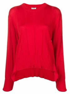 Kenzo pleated knit jumper - Red