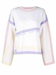 Walk Of Shame graphic print jumper - Multicolour
