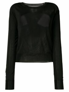 Mm6 Maison Margiela cutout back sweater - Black