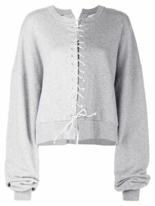 Unravel Project tie-fastened sweater - Grey