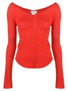 Lemaire v-neck jumper - Red