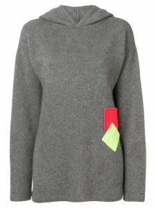 The Elder Statesman hooded jumper - Grey