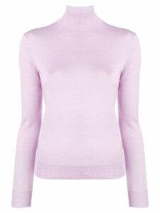 Theory long sleeved turtle neck jumper - Purple