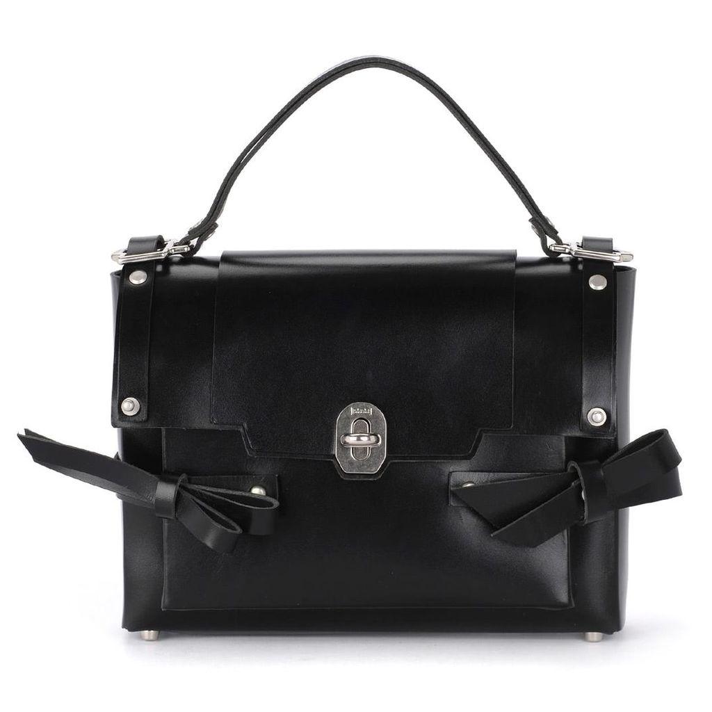 Niels Peeraer Modello Bow Black Leather Bag