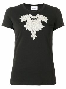 Dondup crystal embroidered T-shirt - Black