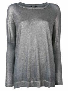 Avant Toi metallic jersey - Silver