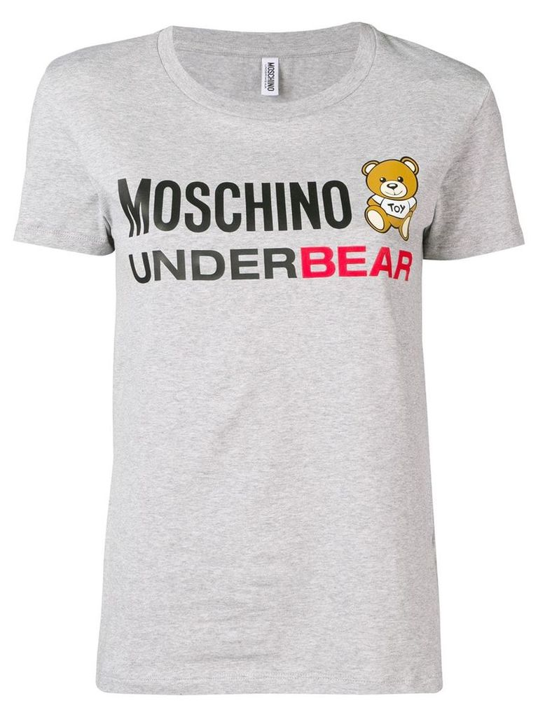 Moschino 'Underbear' print T-shirt - Grey