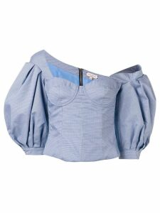Natasha Zinko lantern sleeve corset top - Blue