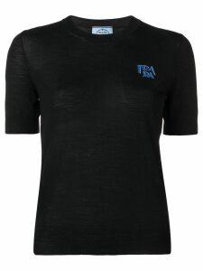 Prada chest logo T-shirt - Black