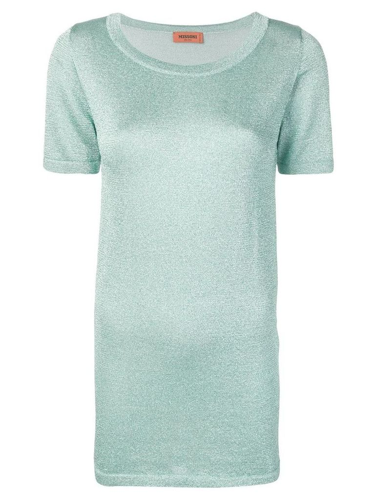 Missoni metallic T-shirt - Blue